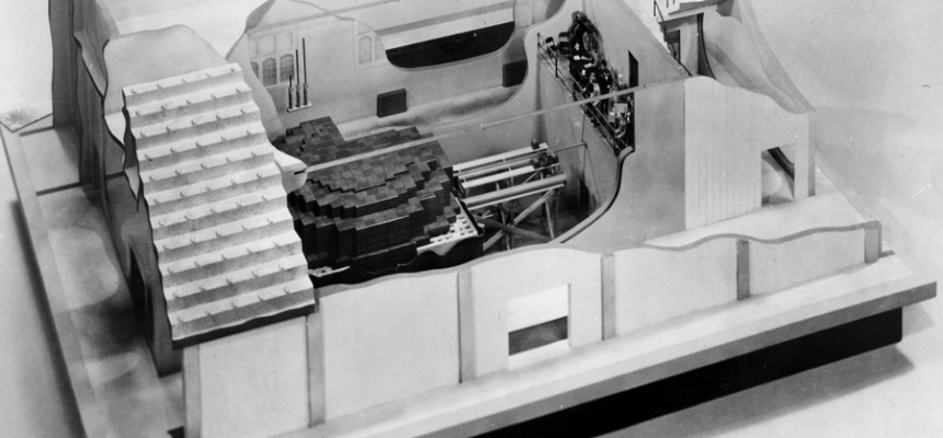 December 2, 1942 – The First Controlled, Self-Sustaining Nuclear Chain Reaction is Conducted. The First Nuclear Reactor, Chicago Pile-1, is built on a Squash Court at the University of Chicago